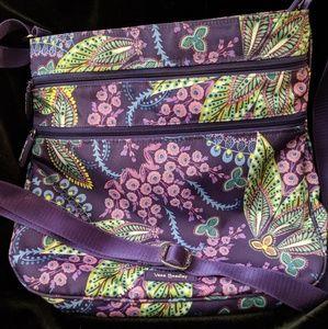 Vera Bradley Triple Zip Hipster Lighten Up Fabric